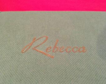 Rebecca by Daphne Du Maurier.  Vintage edition