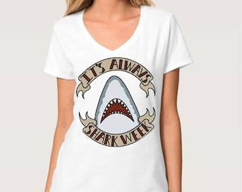 Shark Week V-Neck