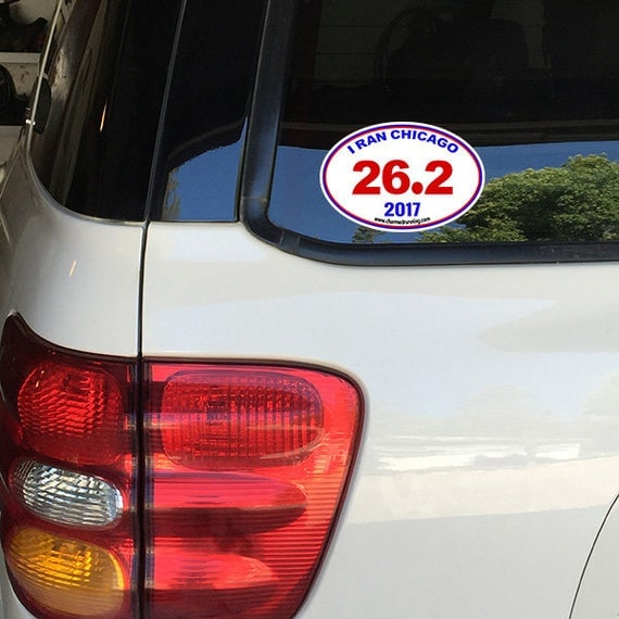 I Ran Chicago Marathon Removable Window Bumper Sticker - Window stickers for cars chicago
