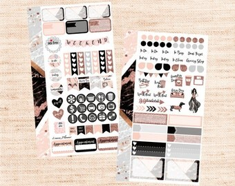 Happy New Year PERSONAL Set (matte planner sticker, Filofax, Kikki K, Websters Pages, Color Crush)