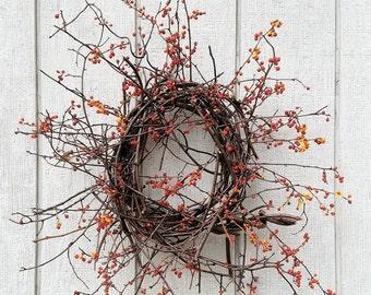 Bittersweet Wreath - Dried Bittersweet wreath - Primitive Bittersweet Wreath - Fall Wreath - Thanksgiving Wreath