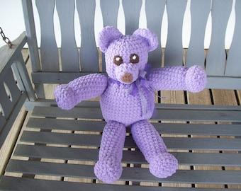 Bear,Bears,Toy,Toys,Lavender,Crocheted,Gift,Kids,Babies,Children,Stuffed Animals,Boys,Girls,Teens,Seniors