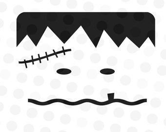 Monster Face Svg - Monster Svg Files - Pumpkin Face Svg - Halloween svg - Trick or Treat Bag Svg - Face svg - Vinyl Pumpkin Faces - Svg File