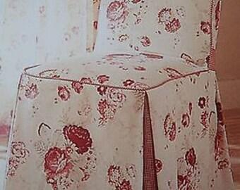 Waverly garden room Norfolk rose chair slip cover