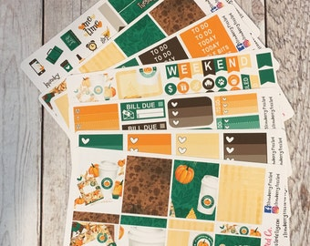 Pumpkin Spice and Everything Nice Themed Kit---- Weekly Planner Kit ---- {Includes 210+ Stickers}