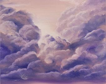 Cloudscape, Inspirational Art, Contemporary Clouds Painting, Sky Modern Art, Fine Art, Original Oil Painting on Canvas