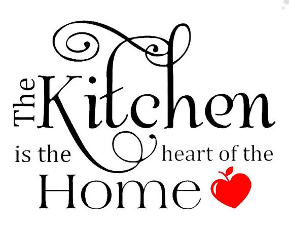 The Kitchen Is The Heart Of The Home Quote Original Art Room