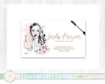 Premade Makeup Artist Business Card, Gold Business Card , Photography Business Card, Thank You Card, Events Card, Appointment Card