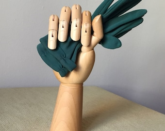 Vintage green gloves green glooves /Vintage