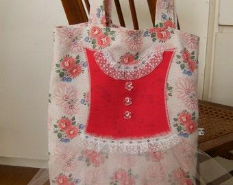 Tutu Tote Bag, Girl's Tutu Tote Bag, Pink Tutu Tote Bag, Upcycled Tote Bag
