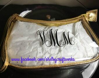 Monogrammed Cosmetic Bag or Wristlet