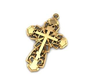 Gold 14K Holy land cross