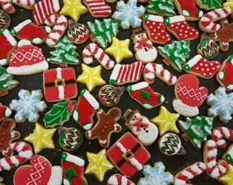 Christmas Decorated Mini Sugar Cookies, One Dozen DELICIOUS!