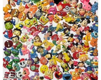 UPDATED! Assorted Inspired Cartoon Flatback Cabochons, you pick lot.