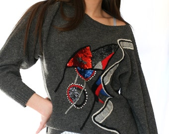Vintage retro woman sweater