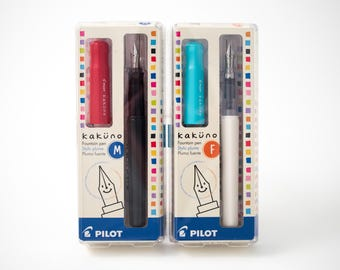 Pilot Kakuno fountain pen, medium or fine point, great for beginners!