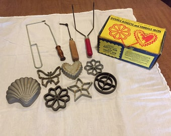 Double Rosette and Timbale Iron Cookie Maker Set.