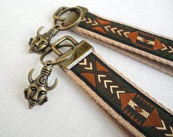 Wristlet Key Fob – Fabric Keychain – Keychain Wristlet – Supernatural – Samulet – Coworker Gift – Dean Winchester Keychain