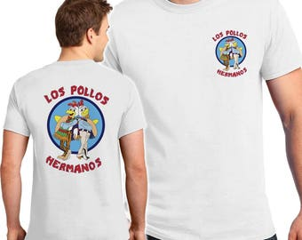 Los Pollos Hermanos 2 sided T-shirts Men's, Women's, Youth, Toddler and Baby Bodysuit Creeper Halloween Cosplay shirts