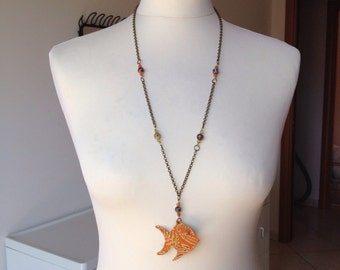 Handmade fish necklace
