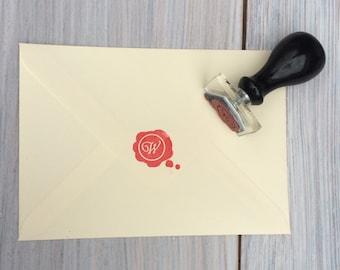 Wax seal monogram stamp   Wax seal stamp   Custom wax seal stamp    UK based, ships worldwide