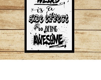 A4 Print Typography Poster Quotes Funny Art Home Decor Unframed