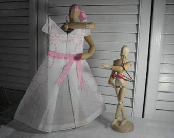 Vintage handkerchief fashioned into origami  dress. Plus 1.00 Shipping