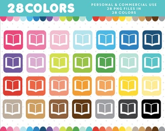 Books graphics, Books PNG, Books icon, Books vector, Books clip art, Commercial clipart, Scrapbooking clipart, CL-925