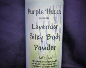 Natural Lavender Silky Body Powder does not contain Talc