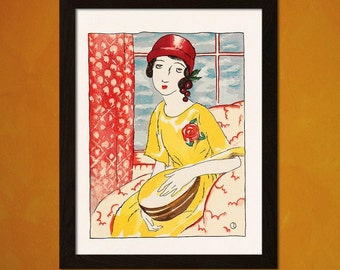 FINE ART REPRODUCTION Japanese Art Takehisa Yumeji Artwork Ukiyo-e Art   Oriental  Asian Art Edo Period Japanese Artist
