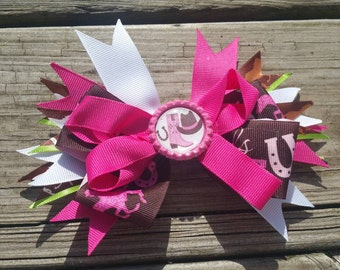 Cowgirl layered boutique hair bow