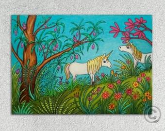 Art print Uncorns poster unicorn magic friends