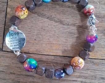 Love boho bracelet
