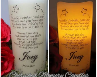 Baby memorial LED candle