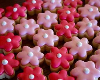 Flower Sugar Design Cookies - MINI - 3 Dozen - Wedding Shower/Bridal Shower - Baby Shower - Birthday - Girls Night Out