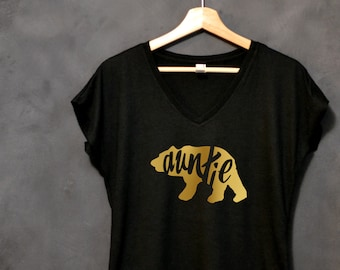 Auntie Bear Shirt, New Aunt Gift, Proud Aunt, Best Auntie Ever Shirt, Best Aunt Shirt, Christmas Gift for Aunt, Aunt Birthday Gift, BAE