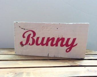 Bunny Wood Sign, Easter Decor