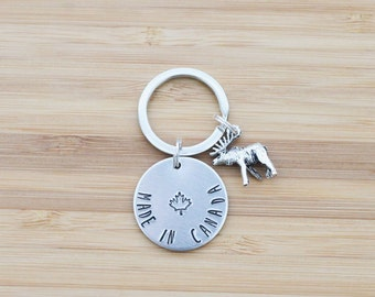 hand stamped keychain | made in canada