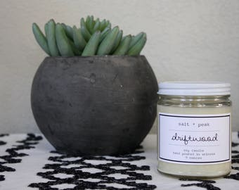 Soy Candle, Soy Container Candle, Scented Candle, 9 oz candle, 16 oz Candle, Gift, Driftwood Scent, Masculine Scent, Candle