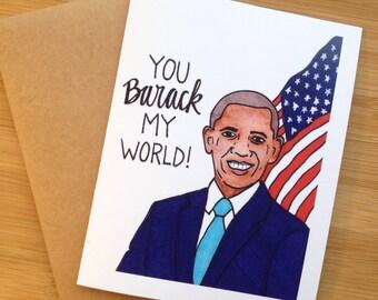Love Card- Funny- Barack Obama