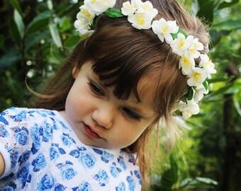 Chaplet Fiori-Flowers-Flowers-Bridesmaid Bridesmaid Communion-Rosary Chaplet Girls-Hair Accessories Baby-Flower Wreath