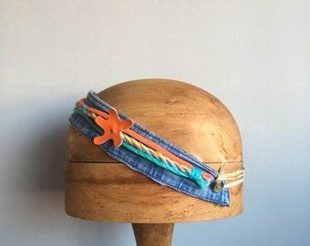 ghostnetgoods beach clean warrior starfish headband/hairband/fascinator made from marine debris