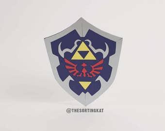 Link's Shield Greetings Card - The Legend of Zelda
