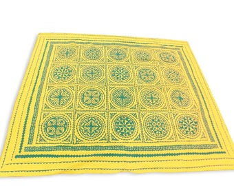 Cotton Cut Work Design Double Bed Cover Size 260x240 CM