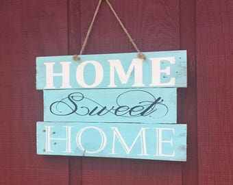 Wood Sign Home Sweet Home , Wood Sign Gift Ideas , Rustic Home Sweet Home Sign , Wood Sign for New Home ,