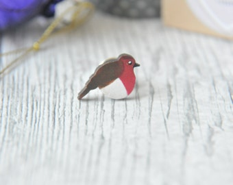 Robin Small pin, Christmas pins, bird pins