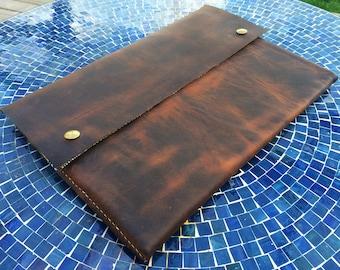 Premium Leather Laptop Sleeve - No Lining