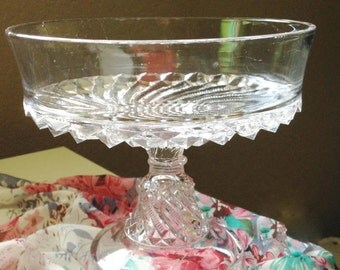Large EAPG Compote 1891 Victorian Era pressed glass KOKOMO