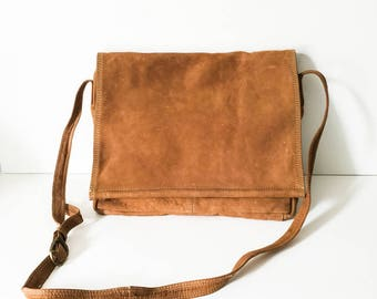Leather saddlebag - Leather cross body bag - Leather shoulder bag - Emily Ann leather bag - Cognac messenger bag - cross body - Boho bag