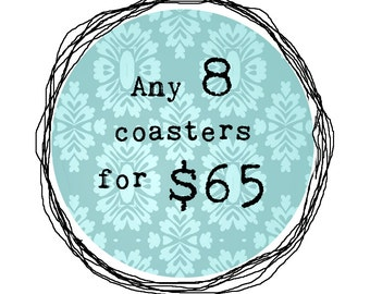 Wood Coaster Set - Wood Art Print Drink Coasters - Perfect for Your Home Decor